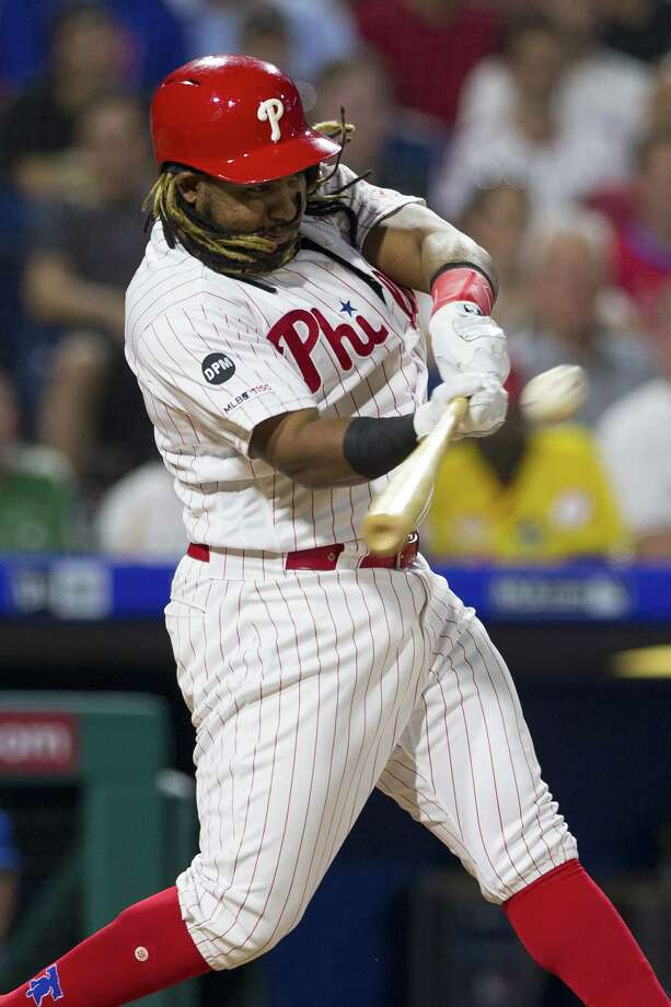 PHILADELPHIA, PA - JUNE 25: Maikel Franco #7 of the Philadelphia Phillies hits a two run home run in the bottom of the sixth inning against the New York Mets at Citizens Bank Park on June 25, 2019 in Philadelphia, Pennsylvania. The Phillies defeated the Mets 7-5. (Photo by Mitchell Leff/Getty Images) Photo: Mitchell Leff / 2019 Getty Images