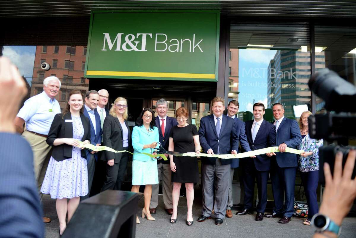 A ribbon-cutting ceremony hosted by the Capital Region Chamber unveils the newly renovated downtown Albanych M&T Bank branch on Tuesday, June 25, 2019, in Albany, N.Y. (Catherine Rafferty/Times Union)