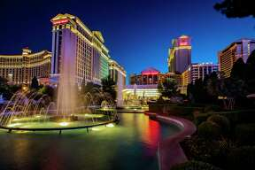Caesars Palace in Las Vegas. Eldorado Resorts announced it was buying Caesars in a cash-and-stock deal valued at $17.3 billion, ending Houston billionaire Tilman Fertitta's bid for the gaming company.