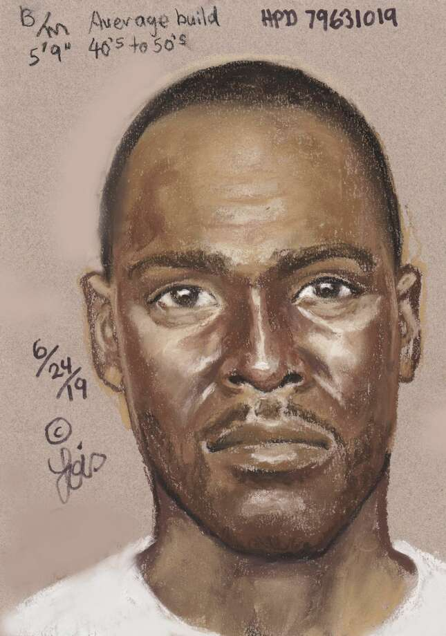 Houston police released this sketch of a man accused of fatally shooting Marlin Jordan, 26, and Maya Brashier, 19, during a robbery around 5:30 a.m. at their apartment in the 7400 block of Hillmont Street. Photo: Houston Police Department
