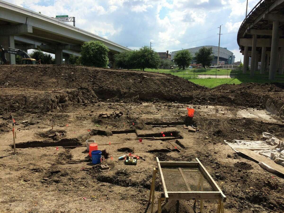 Texas Archeological Society's excavations at the Frost Town near downtown Houston.