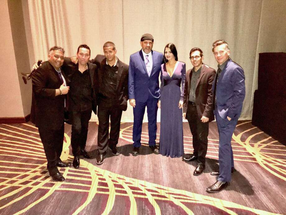 Houston-based Latin band Grupo Batacha, a group of musicians from Cuba, Guatemala, Puerto  Rico, Colombia, the Dominican Republic and the U.S. who sing in Spanish, English  and Portuguese. Photo: Courtesy Photo