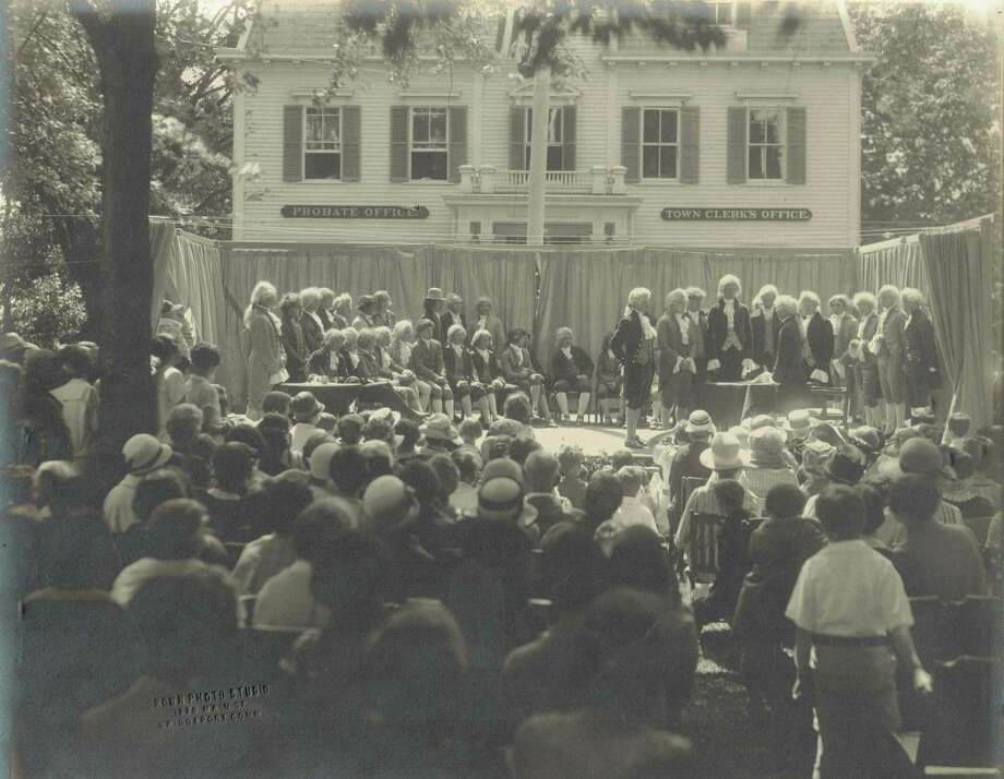 A 1926 re-enactment of the signing of the Declaration of Independence. Photo: Contributed Photo
