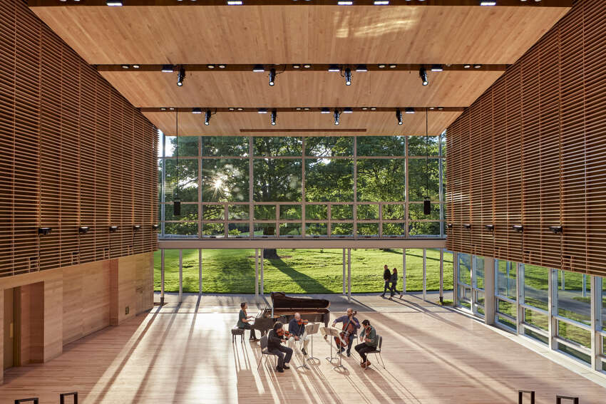 Tanglewood's new Linde Center for Music and Learning, home of the Tanglewood Learning Institute, which launches its first summer season of programs in June 2019 3 (Robert Benson / BSO)