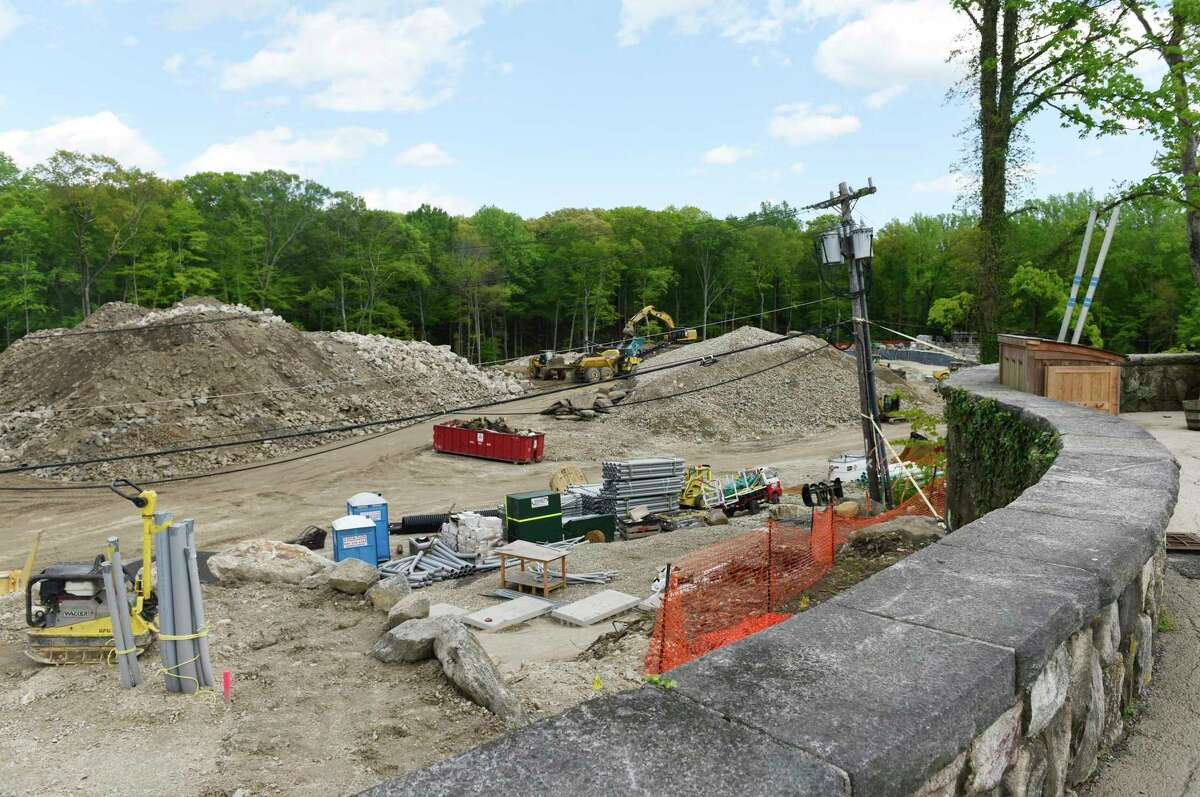 Construction continues on the campus of Stanwich School in Greenwich, Conn. Wednesday, May 15, 2019. Stanwich School is merging with Greenwich Country Day School, which will move its Upper School into the former Stanwich campus.