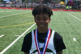 New Milford's Schaghticoke Middle School boys' track & field team dominated the competition this spring, as they finished with an undefeated regular season. The team also finished second in the state championships at Manchester High May 25 and first in the Western CT Conference finals at Brookfield High School June 1, 2019. Jalen Greene, above, placed third at states for the hurdles.