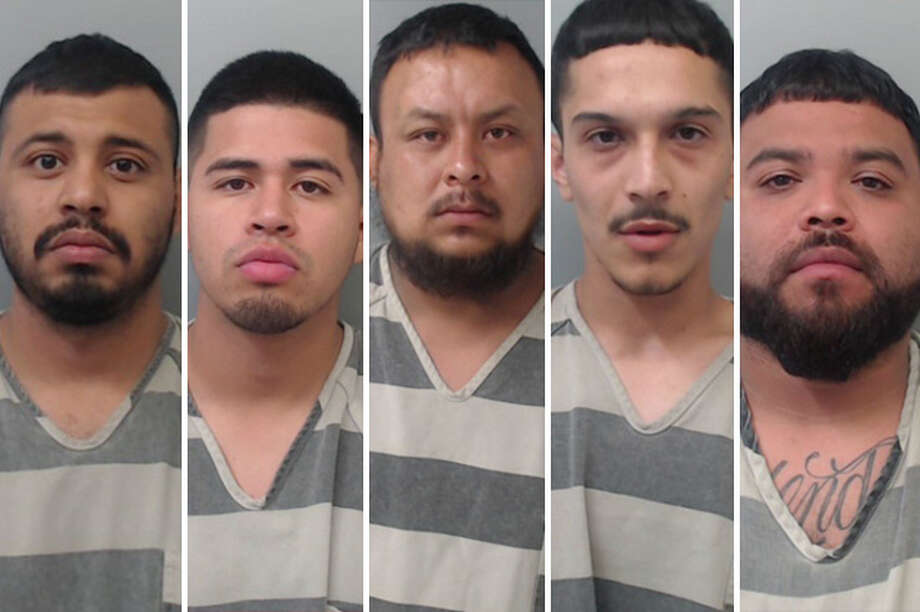 Five men from Laredo and Nuevo Laredo, Mexico, have been arrested in connection with the seizure of more than 6,600 pounds of marijuana, according to the Webb County Sheriff's Office. Photo: Courtesy