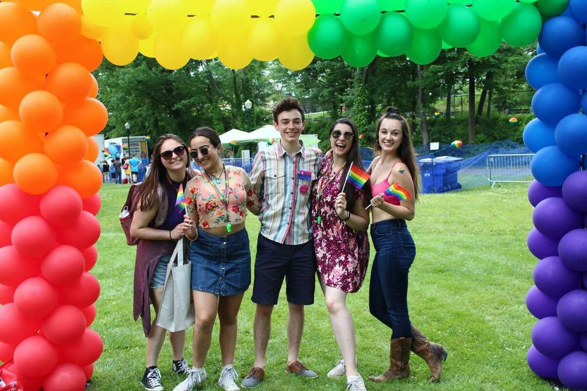 Friends at a recent Pride in the Park festival.