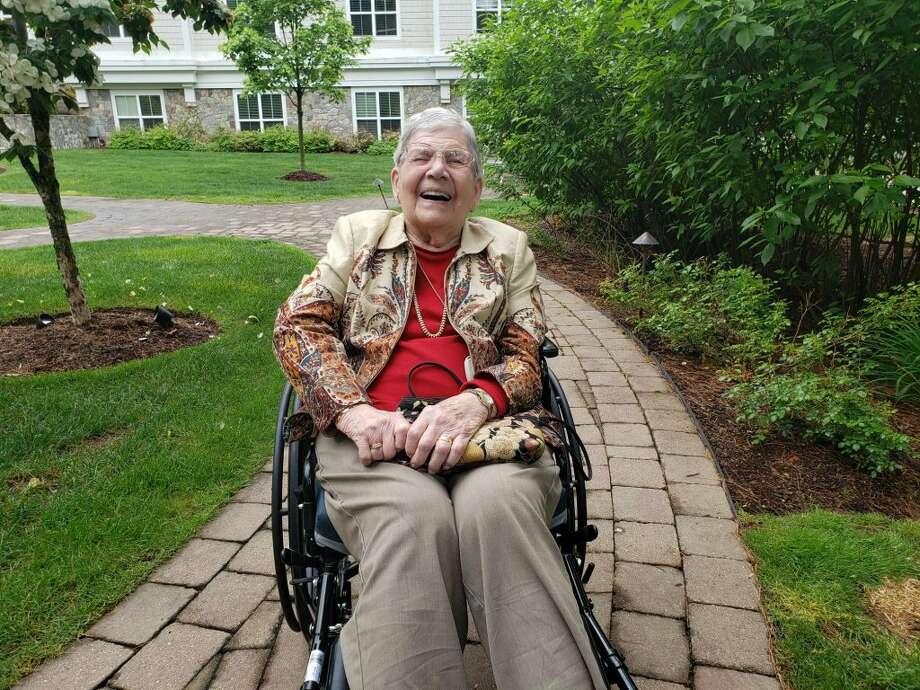 Darien resident Eileen Johnson will be turning 100 on Monday, June 10. — Sandra Diamond Fox photo