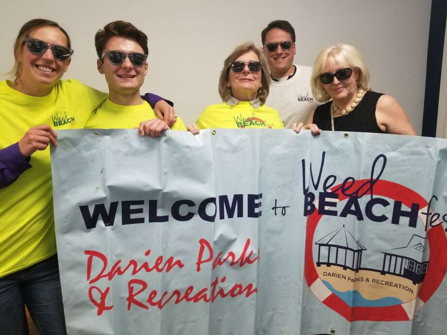 Darien Parks & Recreation Weed Beach Fest staff. From left, Jami Gore, Anthony Gentile, Valerie Muller, Jim Coghlan, Jeanne Foulds