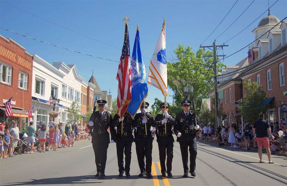 The police color guard.