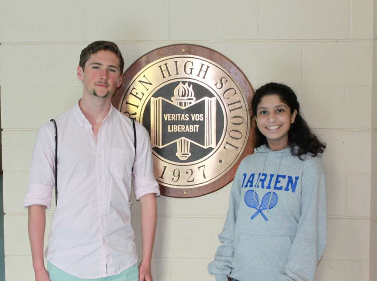 Darien salutatorian Aram Russell and valedictorian Ria Dhull were announced May 23 at the school's awards ceremony. .