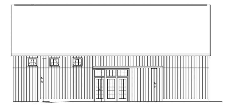 A rendering of the new barn.