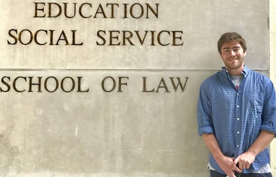 """William Jones at Fordham Law School. His mother, Betsy, said the law was his """"vocation."""""""