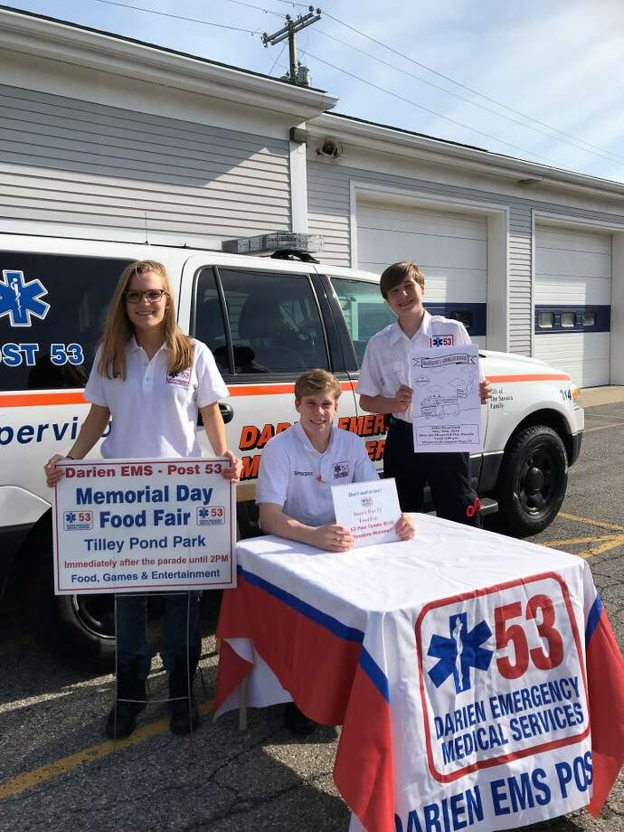 Post 53 members Ellie Cator, Spencer Ericsson and Tate Hanson gear up to sell tickets for the annual Food Fair.