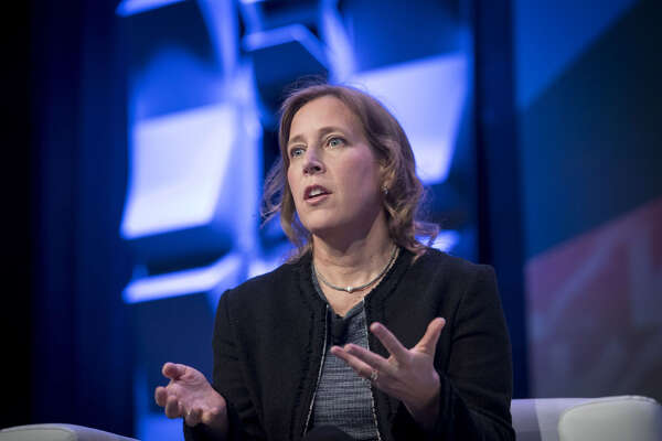 Susan Wojcicki, chief executive officer of YouTube Inc., speaks during a keynote session at the South By Southwest conference in Austin, Texas, on March 13, 2018.