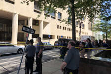 Authorities investigating a suspicious package downtown.