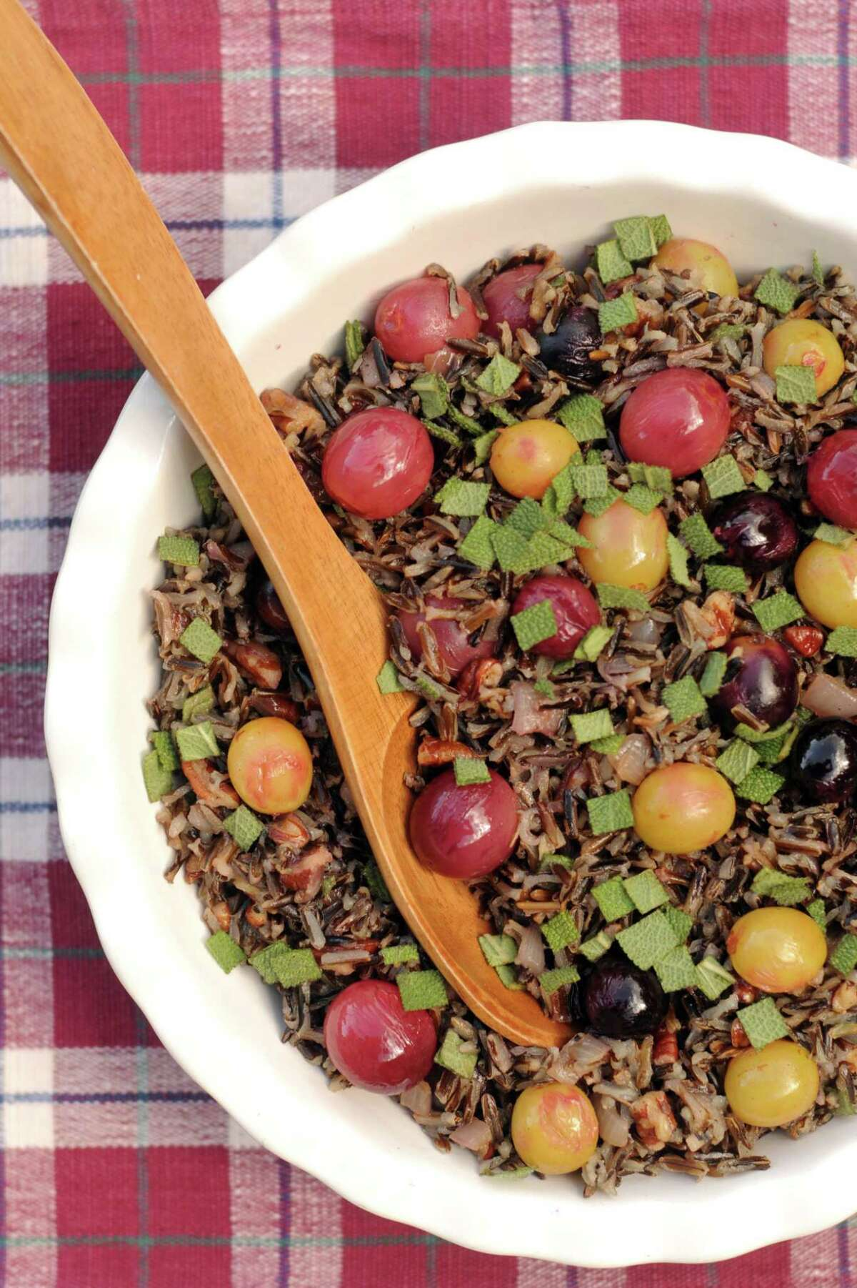 Wild Rice with Sauteed Grapes