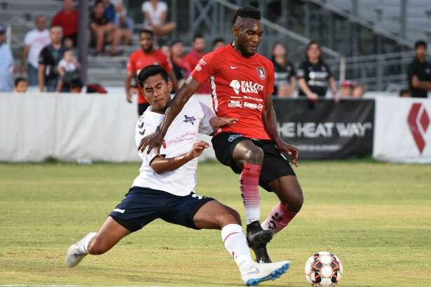 Ivan Sakou leads the Heat with five goals this season after scoring twice Tuesday in a 4-0 victory over Katy 1895 FC at Dustdevil Field.