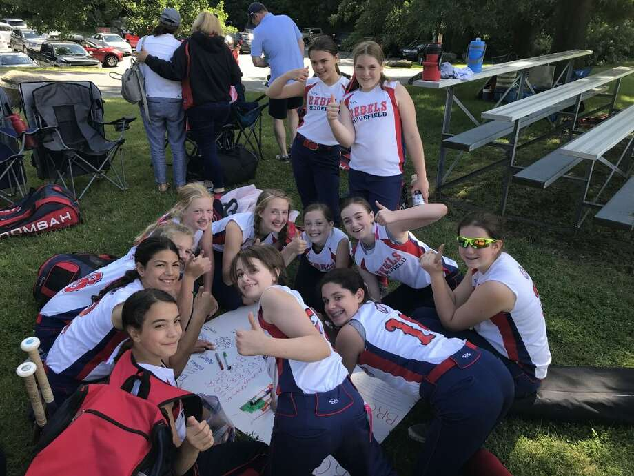 Ridgefield Rebels Girls softball team hosted a fundraiser for Brooke Blake at a tournament in Westborough, Mass. on Father's Day weekend. Brooke was diagnosed with a rare brain tumor, called diffuse intrinsic pontine glioma, in 2015.