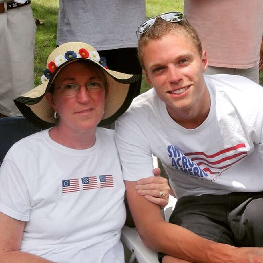 Thomas Brown of Ridgefield will be swimming this year in memory of his mother Kim Cooke Brown this weekend.