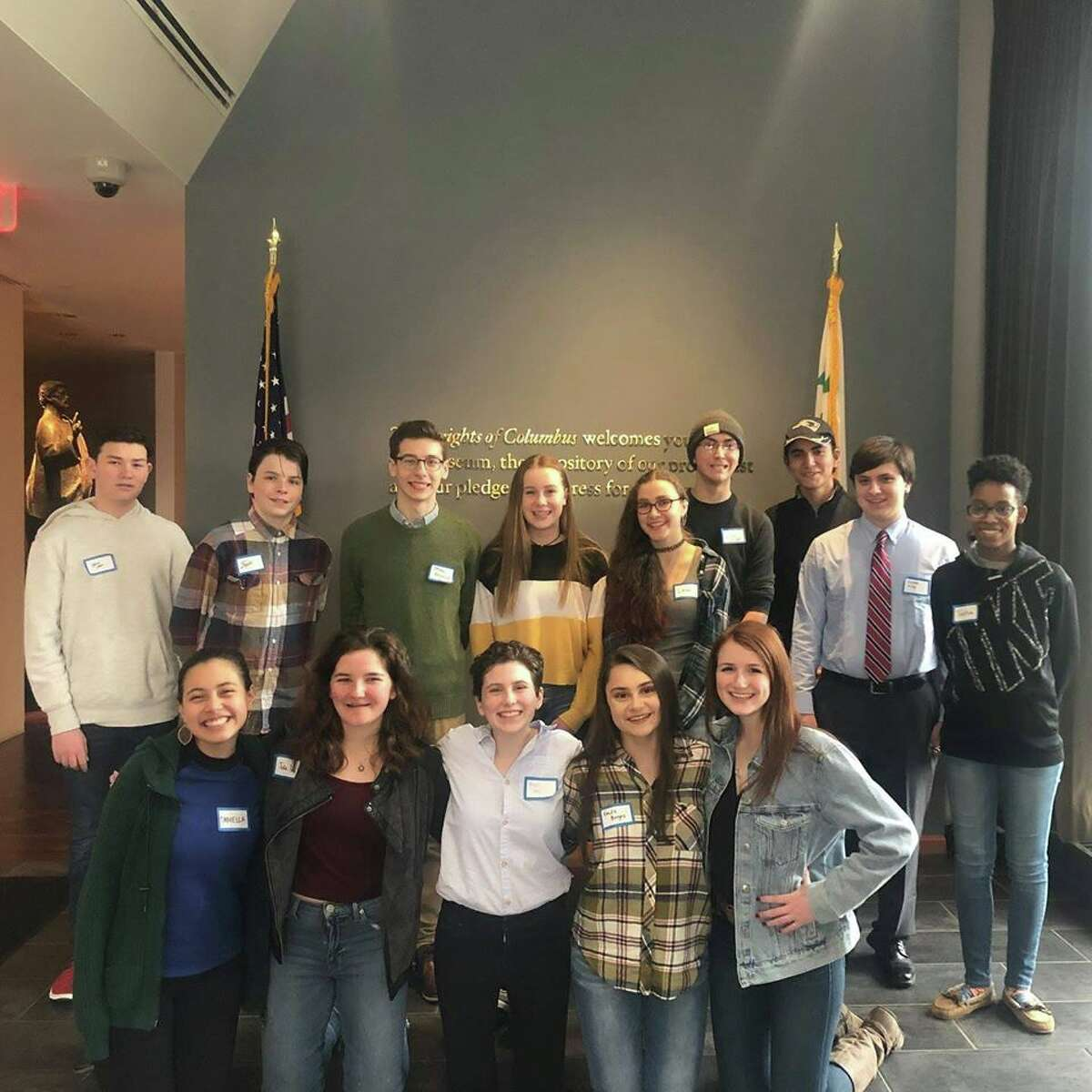 Ridgefield High School sophomores Aaron Cohen and Mairead Lacey are two of 15 students who will participate in a World War I trench restoration program in Seicheprey, France through the Connecticut Heritage Foundation this summer.