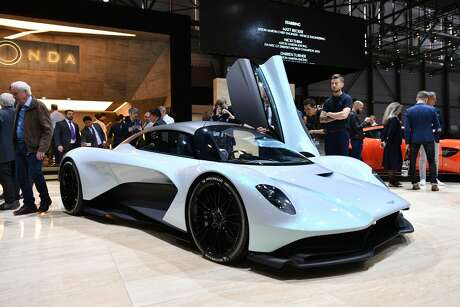 The all-wheel-drive Aston Martin Valhallapurportedly can accelerate from a standstill to 62 mph in 2.5 seconds. It has a top speed of 217 mph. Photo: HAROLD CUNNINGHAM/AFP/Getty Images
