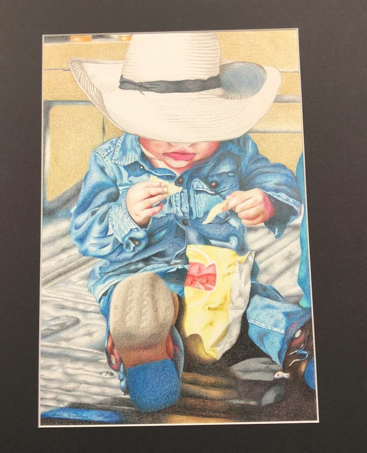 This piece of art by Leslie Hartman is the 2019 Congressional Art Competition winner for District 28.