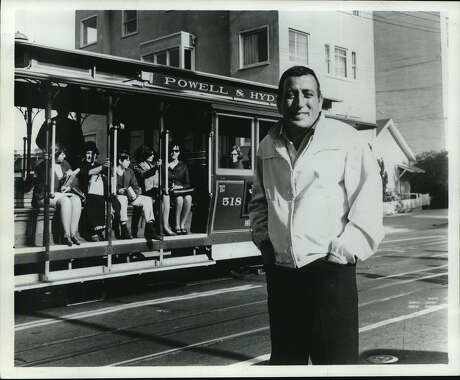 Tony Bennett's song with a line about cable cars often deceives tourists. Photo: Chronicle File Photo 1967