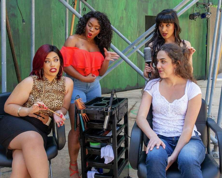 Cast members, clockwise from lower left, are Amanda Serrano, Joyel Kaleel, Tara Kostmayer and Ariana Papaleo, in a scene at a beauty salon.(Jim Franco/Special to the Times Union.) Photo: James Franco / 20047296A
