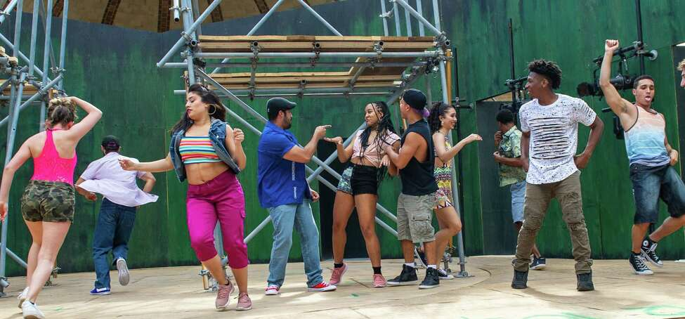 The cast of ?In the Heights,? a production by the Playhouse Stage Company that will be at the Park Playhouse in Washington Park from June 28 through July 27 (Jim Franco/Special to the Times Union.)