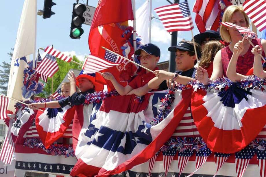 Saint Mary School had a float with plenty of children showing their patriotism during Ridgefield's annual Memorial Day parade Monday, May 27.