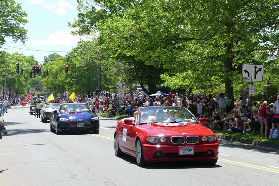 Ridgefield's Memorial Day had its largest number of marchers and vehicles this year. — Steve Coulter / Hearst Connecticut Media