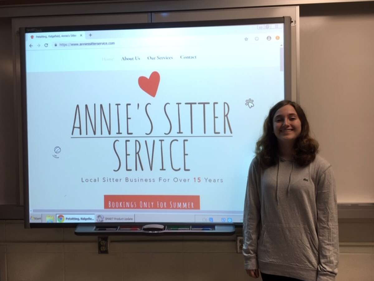 Ridgefield High School web design student Kloe Keidel.