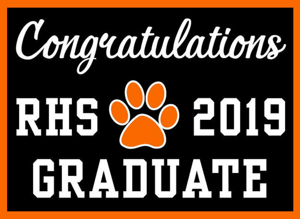 A sample of the graduation yard signs going on sale this month.