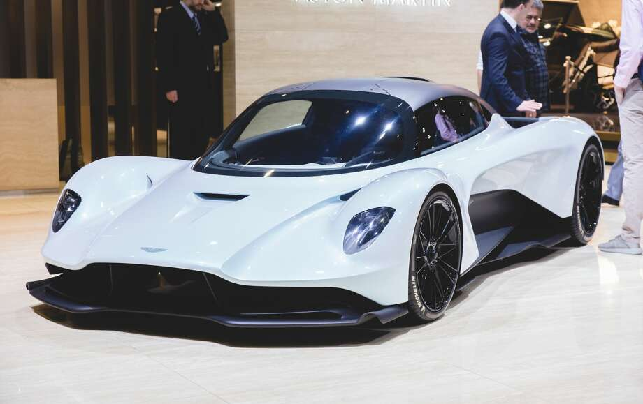 "The sleek, four-wheeled star of the new James Bond movie known as ""Bond 25"" (until its formal name is decided) is the Aston Martin Valhalla, shown here at Geneva International's Motorshow 2019. Only 500 will be built at a price of at least $1.14 million each. Inevitably, the ones used in the filming will become collector's items and possibly sell for much more at auction. Here are the top-10 priciest Bond cars of all time and some of the scenes in which they appeared. Photo: Martyn Lucy/Getty Images"