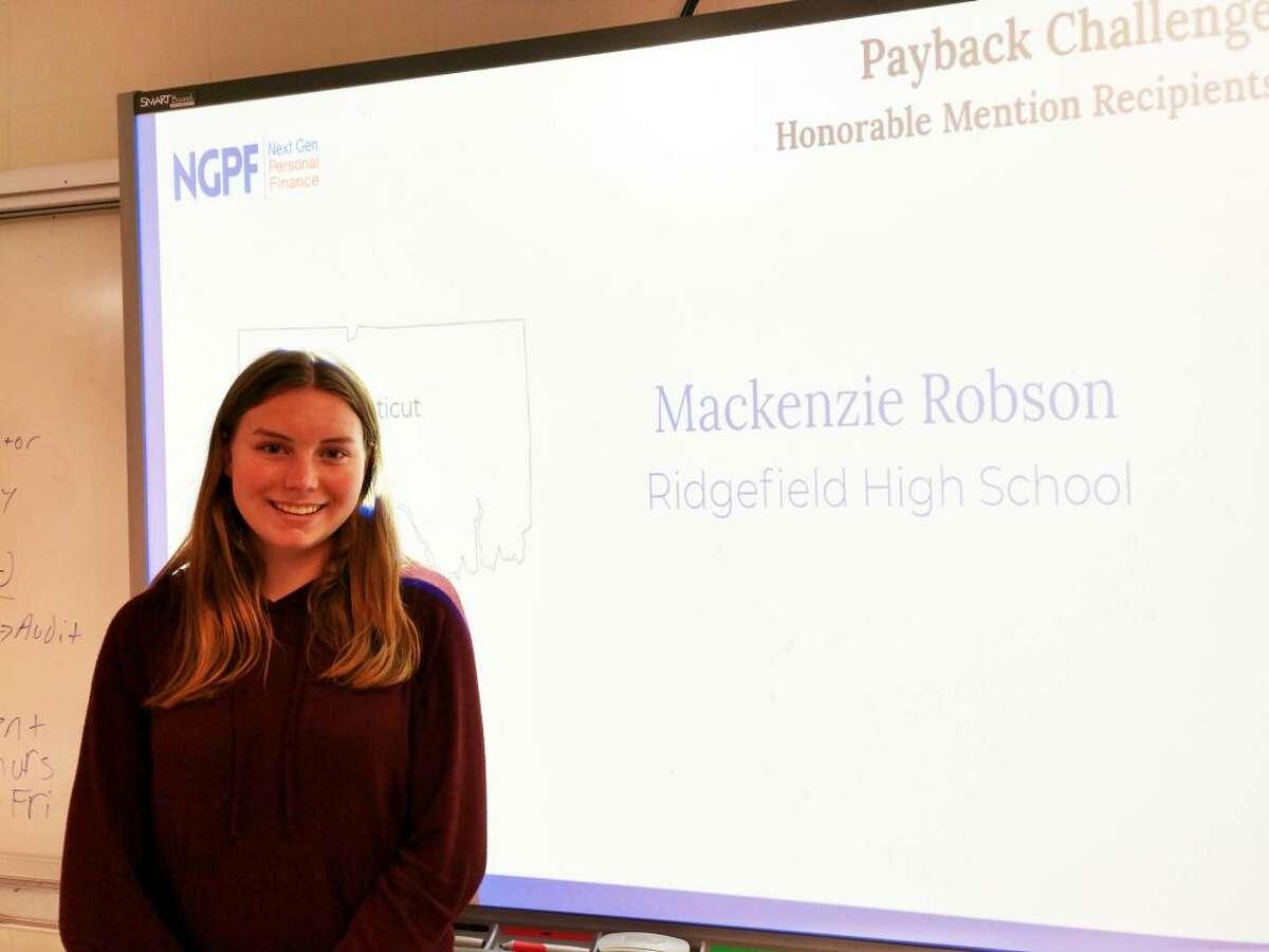 Ridgefield High School student Mackenzie Robson.