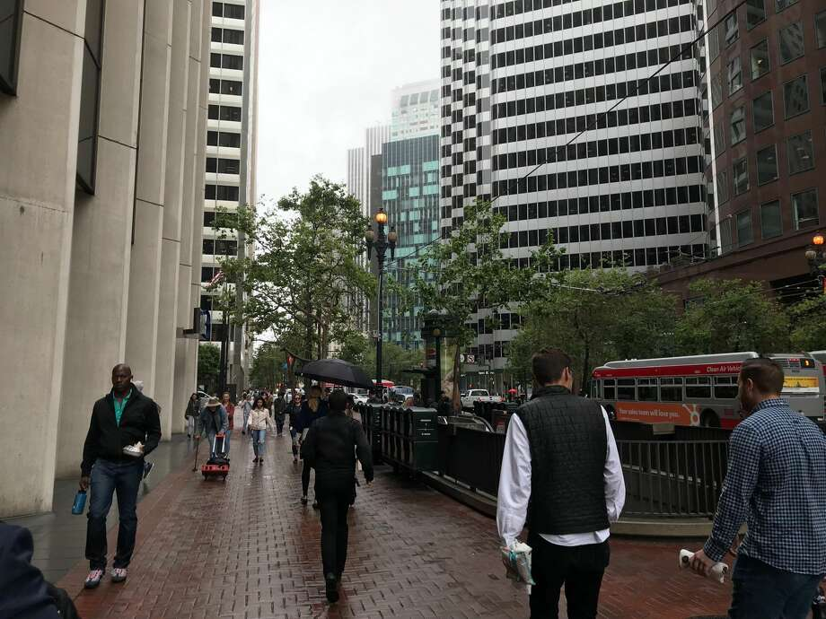 FILE - Light rain fell in San Francisco on June 26, 2019. More is expected to follow early this week as a mild storm system moves into the Bay Area. Photo: Brandon Mercer/SFGATE