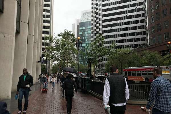 Light rain fell in San Francisco on June 26, 2019.