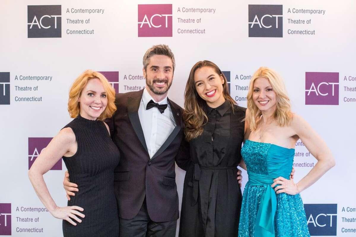 Sarah Litzsinger, Bryan Perri, Julia Estrada, and Laura Woyasz at the ACT of CT gala.