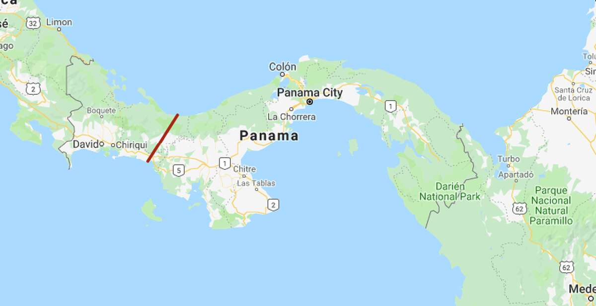 Houston's distance could take you across several countries, including Panama.