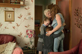 """Clockwise, from right: Jessie Buckley, Adam Mitchell, Daisy Littlefield and Julie Walters in """"Wild Rose."""""""