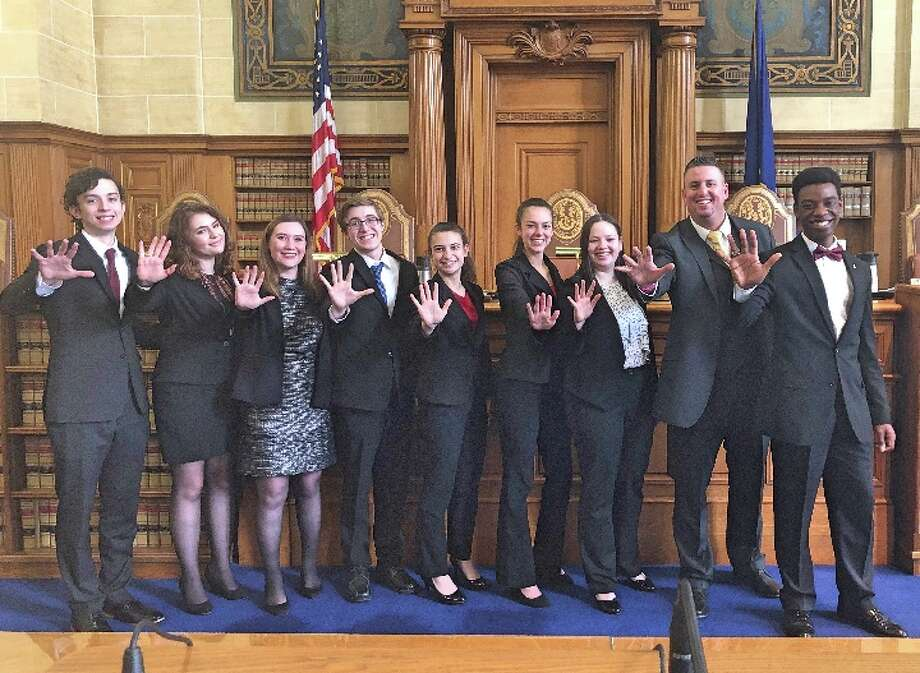 Trumbull High School's Mock Trial team recently won its fifth state championship.