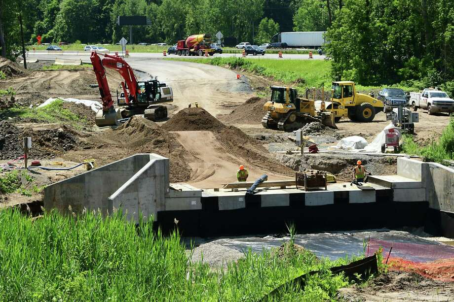 Construction continues on the new Exit 4 overpass over the Northway on Wednesday, June 26, 2019 in Colonie, N.Y. (Lori Van Buren/Times Union) Photo: Lori Van Buren, Albany Times Union / 20047354A
