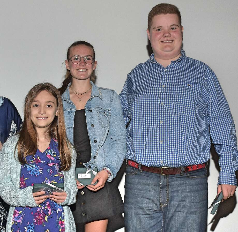 Hillcrest student Alex Chamberlain, right. and Daniels Farm student Carly Mofenson, left, are two of the four National PTA Reflections contest winners from Connecticut.