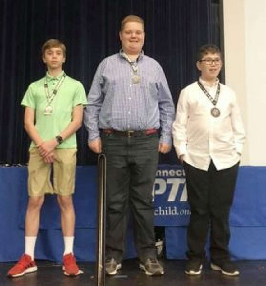 Madison Middle School student Johannes Rysse, first place Middle School: Photography; Hillcrest Middle School's Alex Chamberlin, first place Special Artist: Musical Composition; and Madison Middle School's Seth Goldstein, third place Middle School: Film Production.