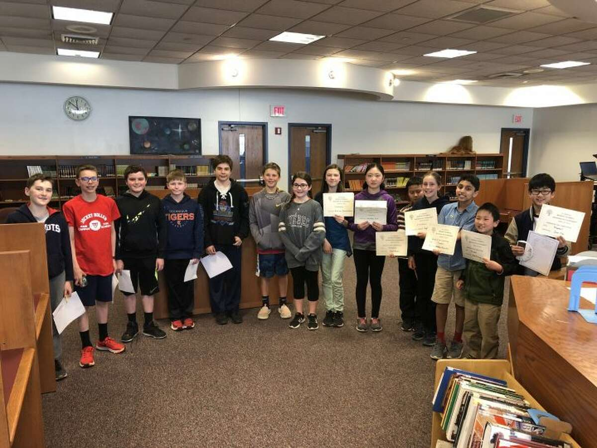 All of the students who competed in the mathematics competition from Trumbull and Monroe middle schools.