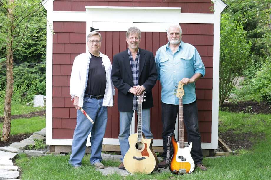 From left, Jim Zembruski, Mark Holleran and Steve Cinque make up the band Over Easy, which will perform at Wilton Library on June 27.