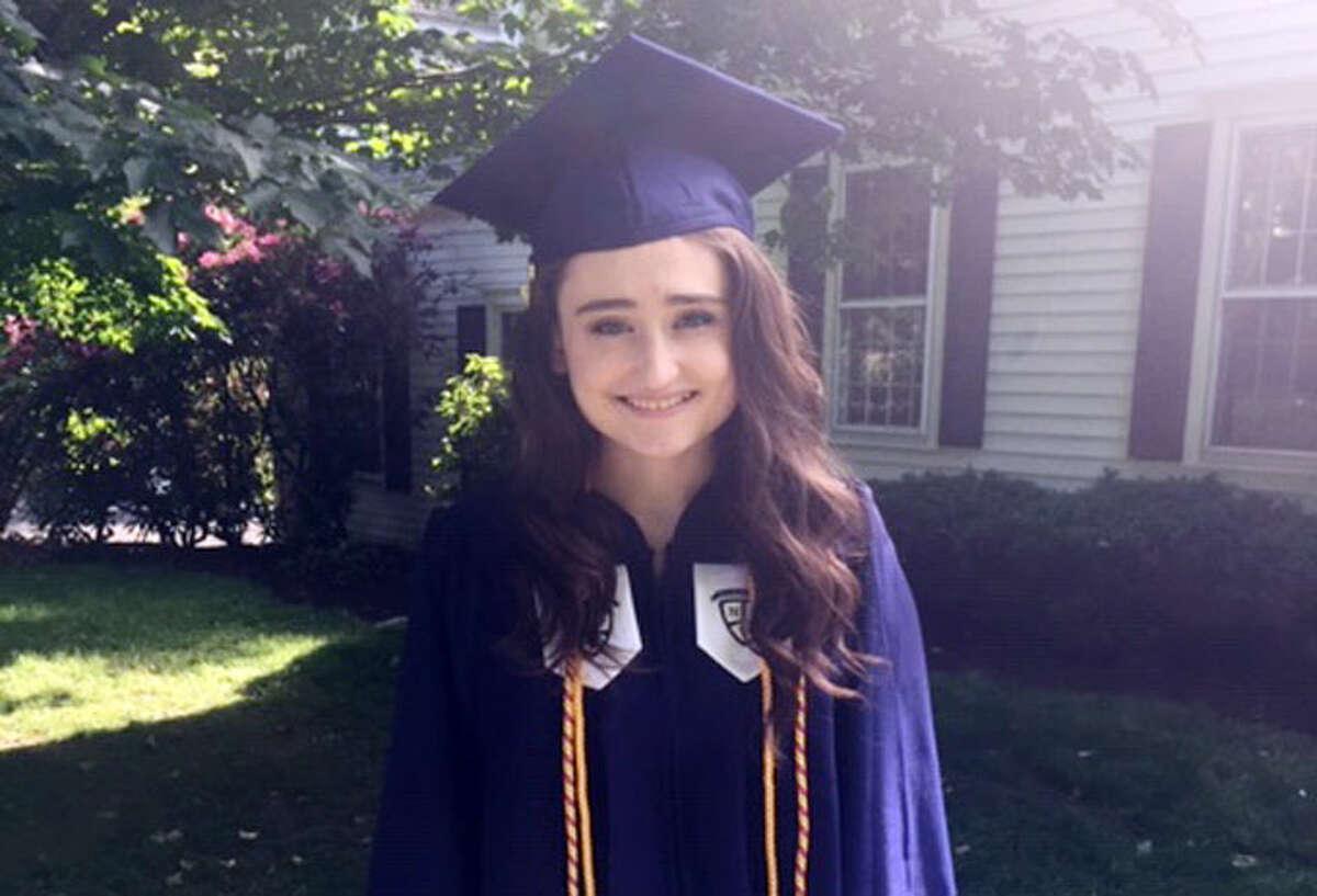Katie Heffernan of Wilton was valedictorian at Notre Dame Fairfield. - Contributed photo