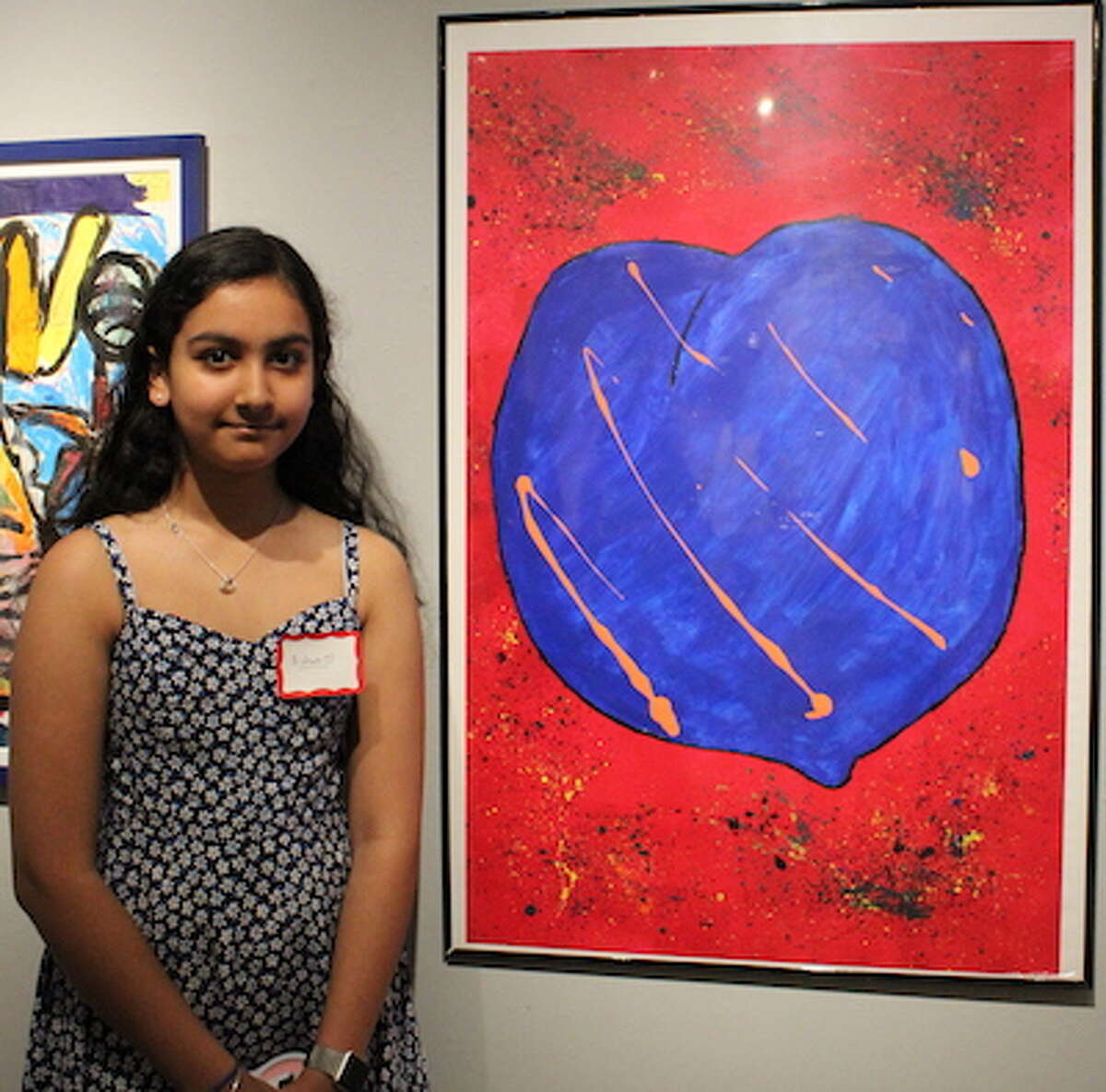 Aishani Walia won 1st Prize in Painting at the 29th annual Silvermine School of Art Student Exhibition on June 2.